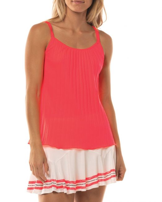 pleated strappy cami