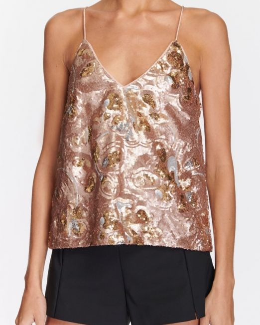 Ramy Brook Leta Top Rose Gold