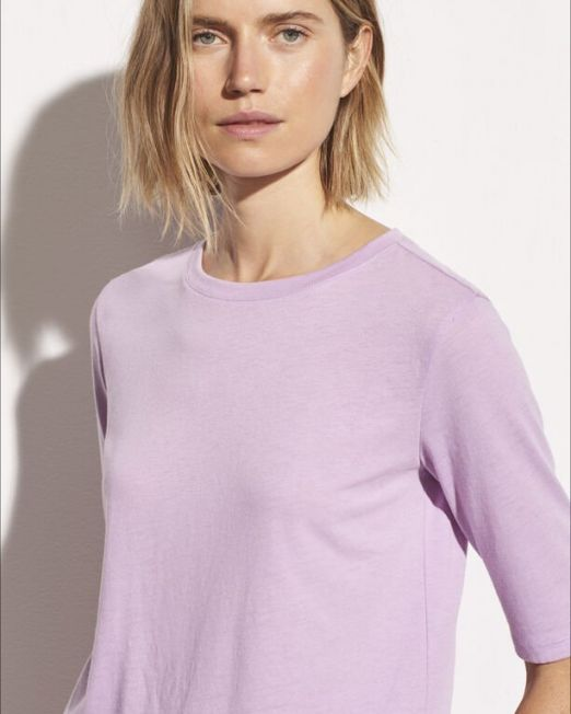 Vince Elbow Sleeve Crew Lilac
