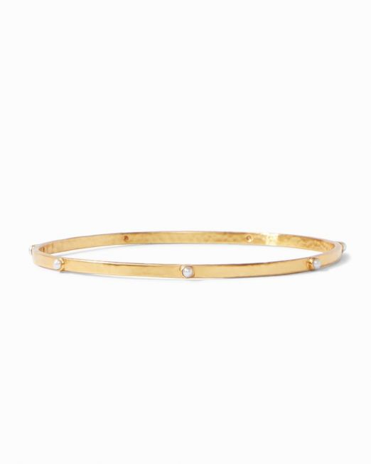 Julie Vos Crescent Bangle Pearl