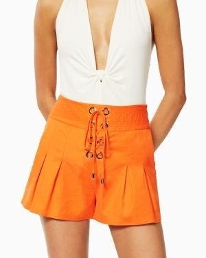 Ramy Brook Delanie Short Candy Orange