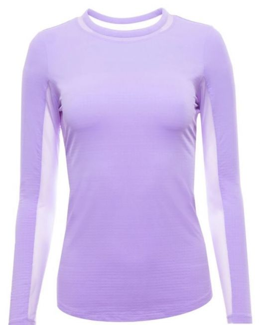 IBKUL Long Sleeve Crew Neck with Mesh Lavender