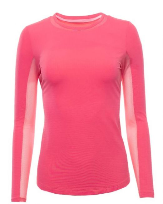 IBKUL Long Sleeve Crew Neck with Mesh Watermelon