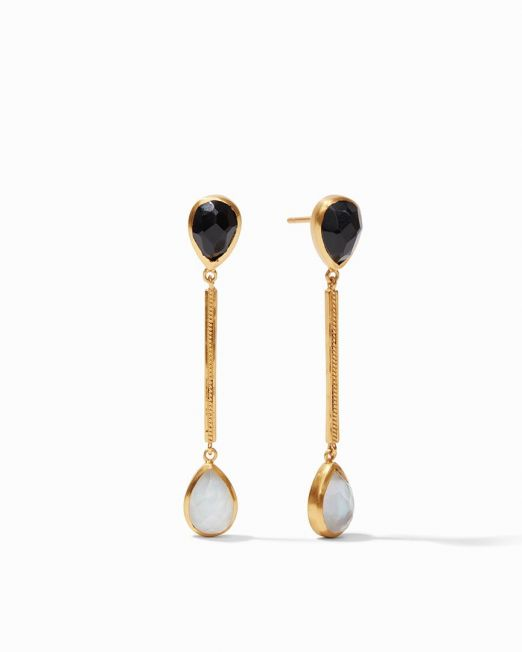 Cassis Duster Earring Black and Clear