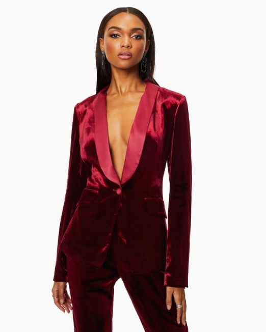 Ramy Brook Malcom Blazer Red