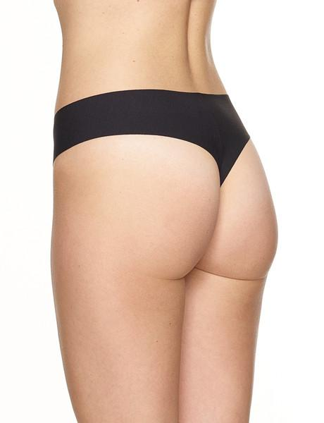butter thong black back