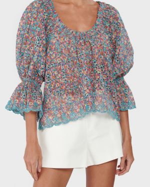 Ramy Brook Oakleigh Eyelet Embroidered Top