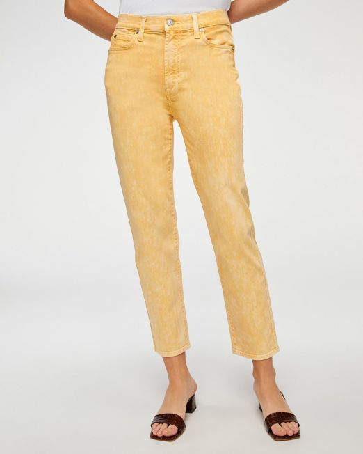 HIGH WAIST CROPPED STRAIGHT IN MINERAL MARIGOLD